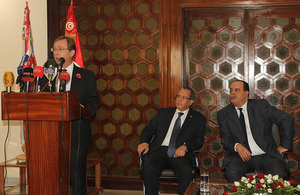 The British Ambassador to Tunis Hamish Cowell announces the implementation of the work plan of the Strategic Planning Units within the Ministry of Interior