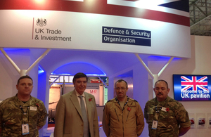 UK delegation at Dubai Air Show 2015