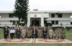 The British High Commissioner met the Deputy Commandant of the Punjab Regiment, Colonel Faisal Zeeshan and laid a wreath at the Yadgar-e-Shuhada at the Punjab Regimental centre, Mardan.