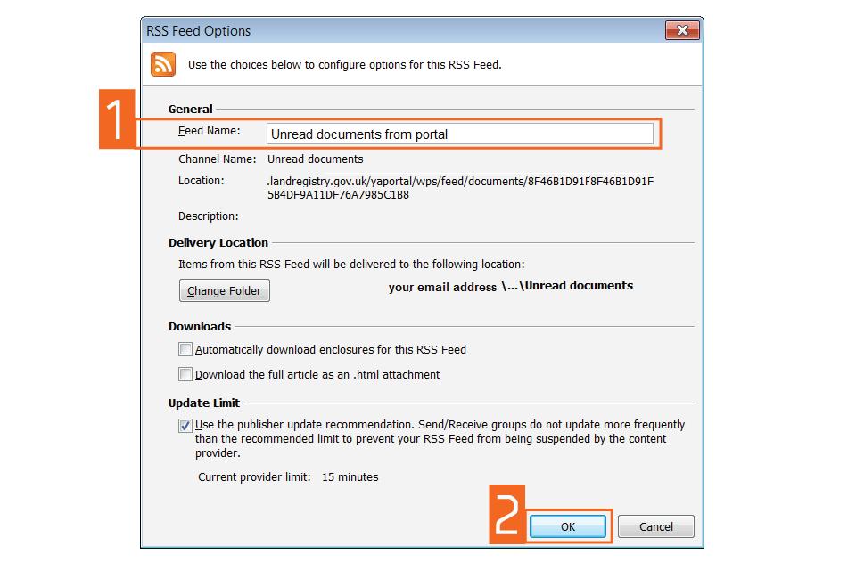 unread documents form portal