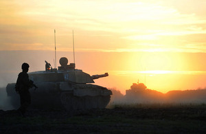 Units from 12 Mechanized Brigade on exercise at the British Army Training Unit Suffield in Canada