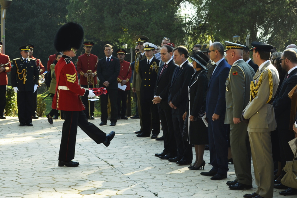 Remembrance Day service 2015 in Albania