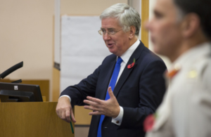 Defence Secretary Michael Fallon at the MOD Welfare Conference