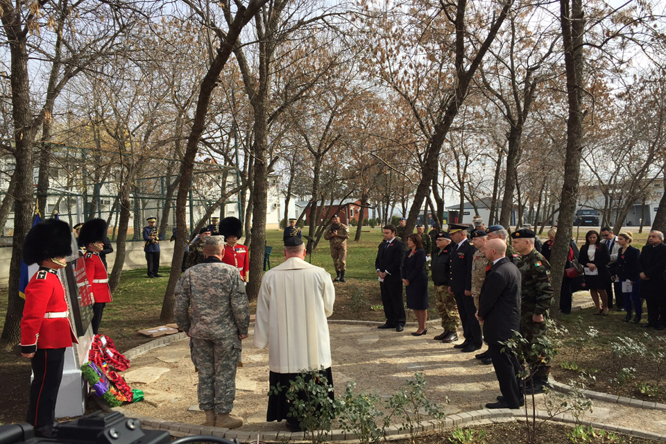 Remembrance Day service 2015 in Kosovo