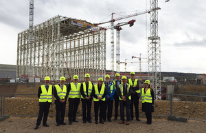 UKAEA Board in front of ITER Tokamak complex