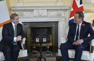 Enda Kenny and David Cameron