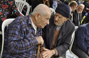 Lebanese & Palestinian veterans at Beirut Commonwealth War Grave Cememtery