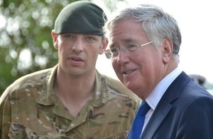 Michael Fallon on a trip to Sierra Leone