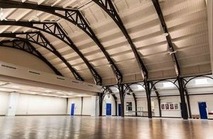 The drill hall after the renovations. Crown Copyright. Photo: Mark Adams.