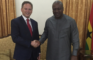 International Development Minister, Grant Shapps, and Ghana's President, His Excellency John Dramani Mahama