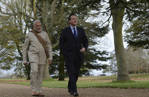 PM Cameron and PM Modi at Chequers