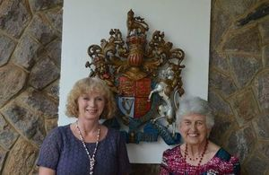 HE Alison Blackburne with British Empire Medal (BEM) recipient Elizabeth Traill