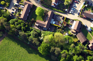 land view from the sky
