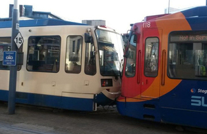 Image showing the trams involved (courtesy The Star, Sheffield).