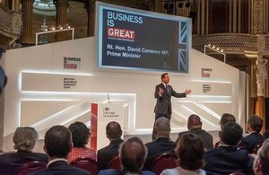 Prime Minister David Cameron at IFB2014