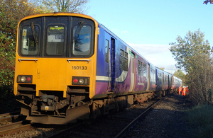 Image of incident train near Knaresborough