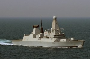 HMS Defender. Crown Copyright