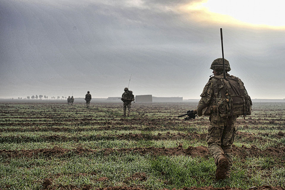 Soldiers from 16 Air Assault Brigade patrol in Helmand province, Afghanistan, earlier this year (stock image)