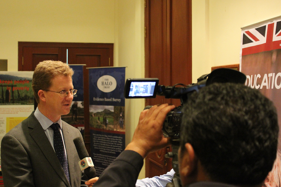 FCO Director Asia-Pacific Stephen Lillie giving a press statement
