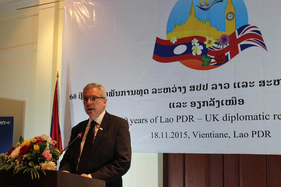 British Ambassador Hugh Evans delivering his commemorative remarks