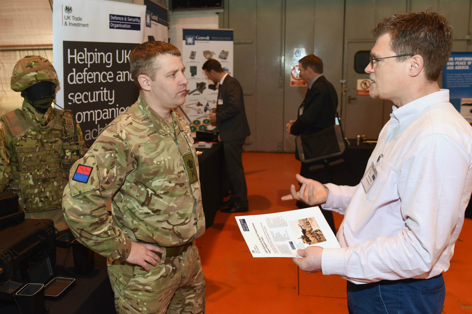 UKTI DSO's Military Export Support Team formed part of the exhibition