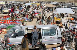 Chah-e Anjir's market stalls