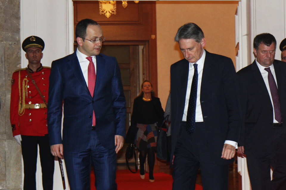 Foreign Secretary Philip Hammond visit to Tirana