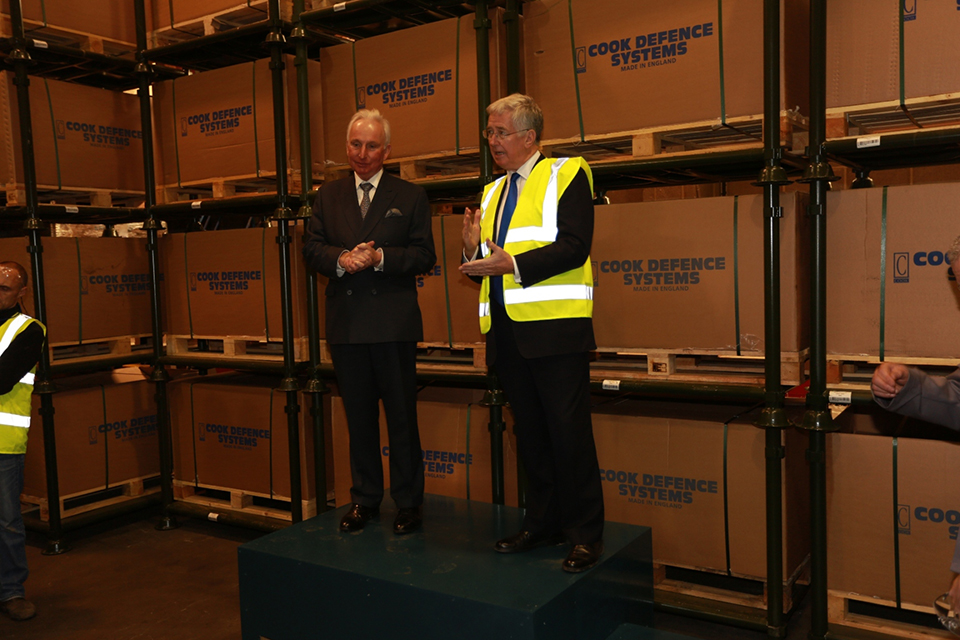 Defence Secretary Michael Fallon. William Cook Stanhope Limited