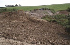 Lower Trebrown Farm – the larger of the two illegal waste sites