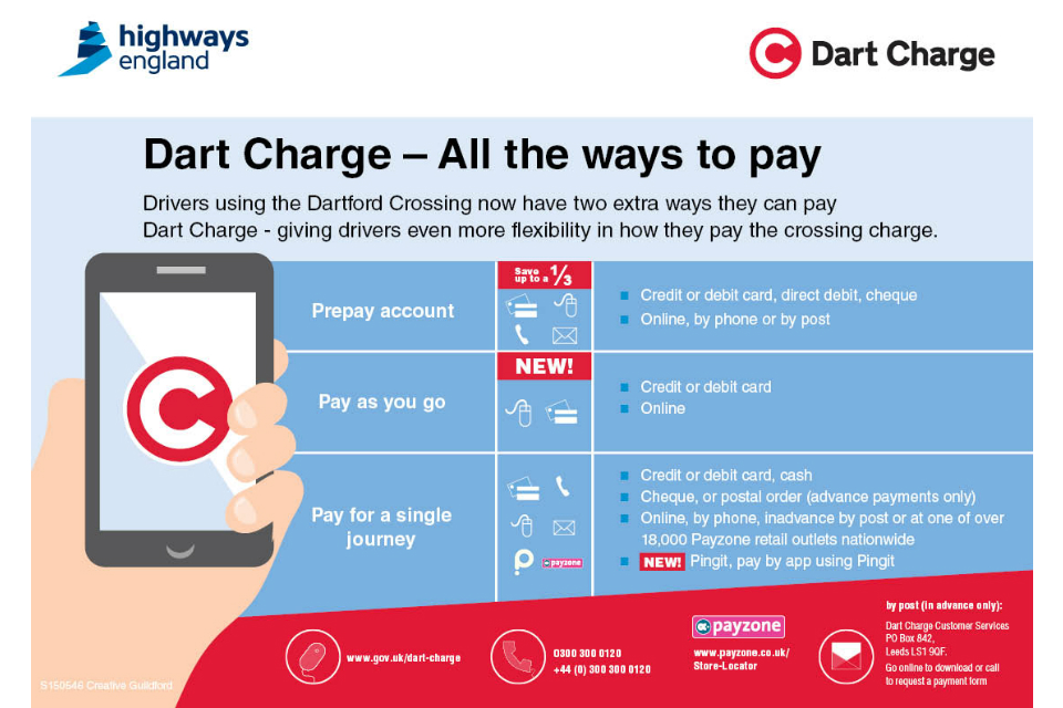 new ways to pay Dart Charge