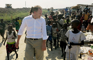 International Development Minister Grant Shapps visits Malakal, South Sudan. Picture: Iain McLellan/IOM