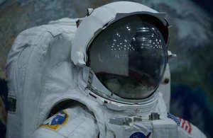 An astronaut's suit in Houston, Texas