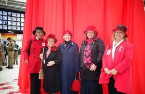 Members of the War Widows' Association of Great Britain at Waterloo station on Thursday 29 october 2015 on London Poppy Day. Photo: Mrs Pauline Garlick. All rights reserved.
