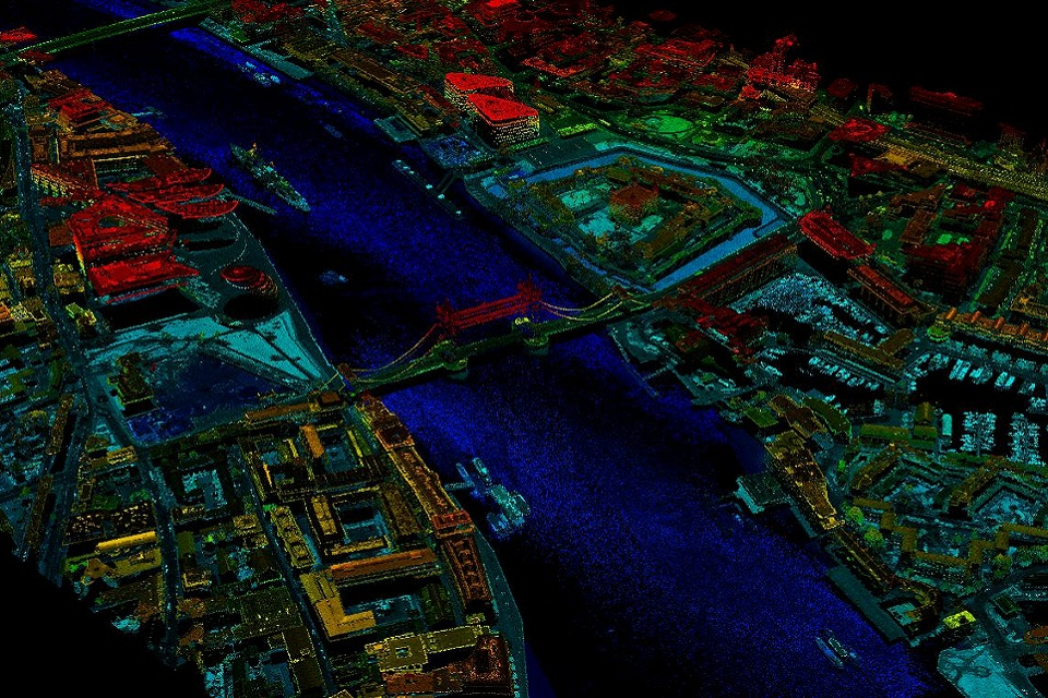 LIDAR data of Tower Bridge
