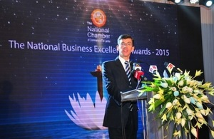 High Commissioner H.E. James Dauris was the Chief Guest at the National Chamber of Commerce's Business Excellence Awards Ceremony 2015.