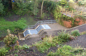 New culvert screen on Ibbot Royd Clough