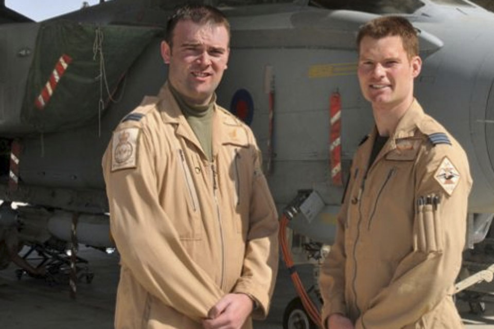 Squadron Leader Tom Hill and Flight Lieutenant Ben Dempster