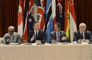 Prime Minister David Cameron attends an anti-corruption event at CHOGM