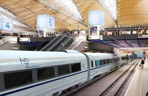 Artist's impression of a HS2 train