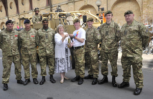 S300 4 yorks soldiers carry paralympic flame