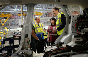 George Osborne visiting Jaguar in 2014. PA images.