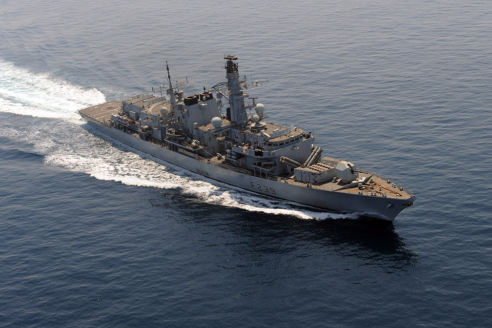 HMS Richmond drugs seizure. Crown Copyright.