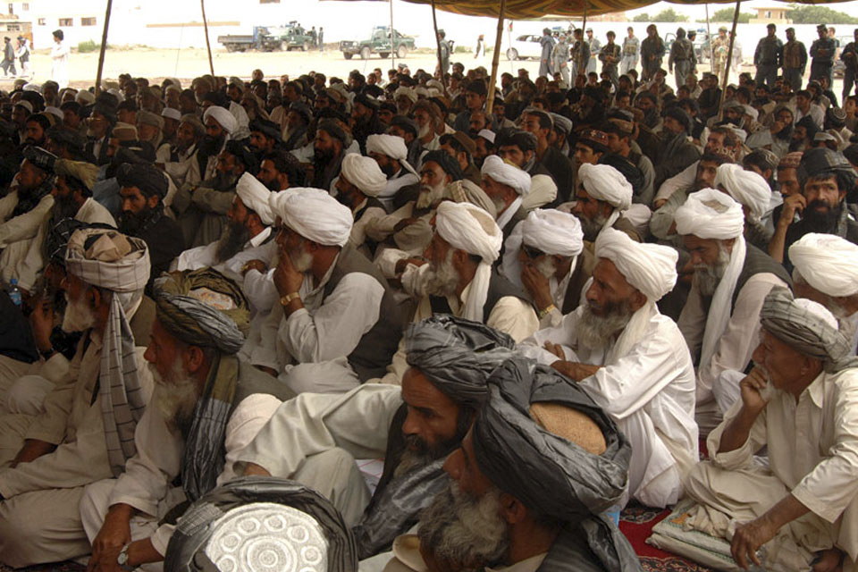 Over 200 people turned up for the distribution of farming equipment in Nad 'Ali district centre