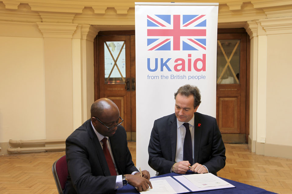 Minister Hurd and Rwanda's Honourable Minister of Infrastructure James Musoni. Picture: Jess Seldon/DFID