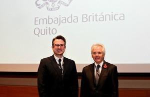 Dr. Alexandre Strapasson and British Ambassador Patrick Mullee
