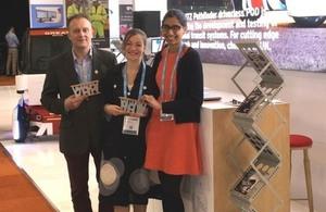 Alan Fletcher, Cecile Faraud and Poppy Rai with their awards.