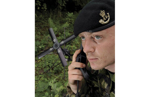 A Tac Signaller making use of the latest in antenna technology