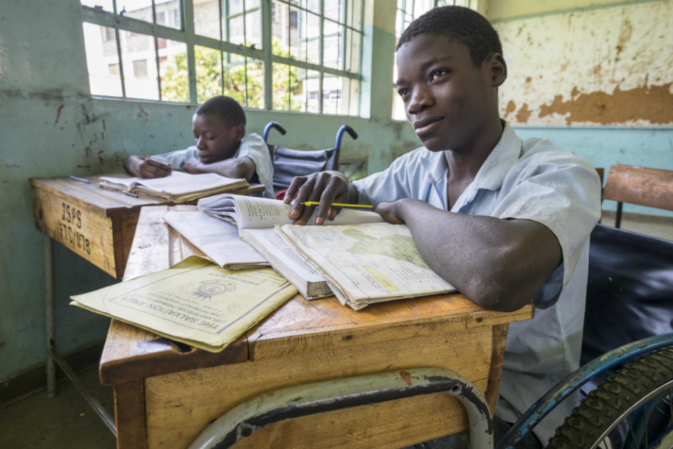 Students prepare for exams at Joyland School in Kenya.