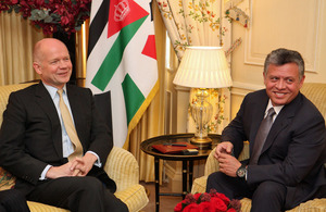 Foreign Secretary meeting the King of Jordan