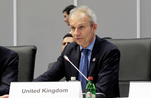 David Lidington delivers the UK statement at the 2015 OSCE Ministerial